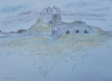 LINDISFARNE │August 2003 │ Pencil and crayon on A3 paper