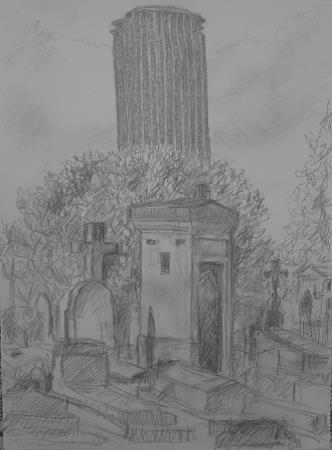 MONTPARNASSE CEMETERY │ 2013 │ Pencil on A4 paper
