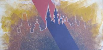 PRAGUE │ 2005 │ Acrylics on canvas │ 50 x 100 cm