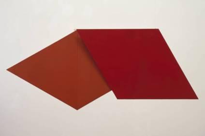 SPÊŠL RLĪF (RED) │ 1959 │ Polīvinil aṣtêt rezin on plîwŭdobjct │ 625 x 1480 x 153 mm, 15 cg