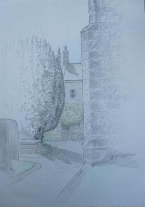 WARKWORTH CHURCHYARD │ July 2005 │ Pencil and crayon on A3 paper