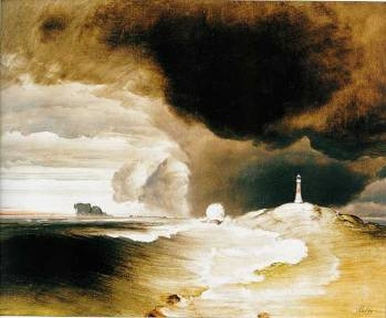 Lighthouse, c.1855. 58.5 x 70.5 cm. National Gallery, Oslo