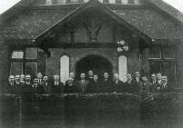 """St Chad's Anglican Church, Stratford Road, Upper Stoke. No longer exists. Photo undated │ From Coventry Society website, """"Memorials at Coventry churches"""""""