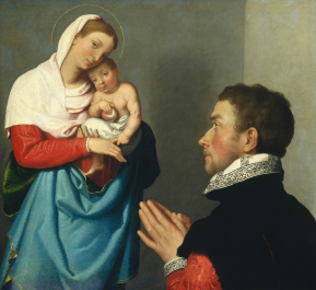 A Gentleman in Adoration before the Madonna, Italian, c1560. Photograph: The National Gallery, London