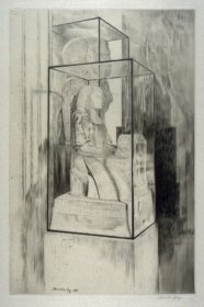 'The Encased Statue,' 1913. Drypoint, 34.7 x 22.7 cm