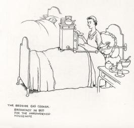 W HEATH ROBINSON AND CECIL HUNT: THE BEDSIDE GAS COOKER BREAKFAST IN BED FOR THE HARDWORKED HOUSEWIFE