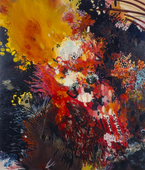 Dirty Burning. 1997. Medium Oil on canvas, 210.00 x 180.00 cm © The Artist. Courtesy of the artist and the National Galleries of Scotland