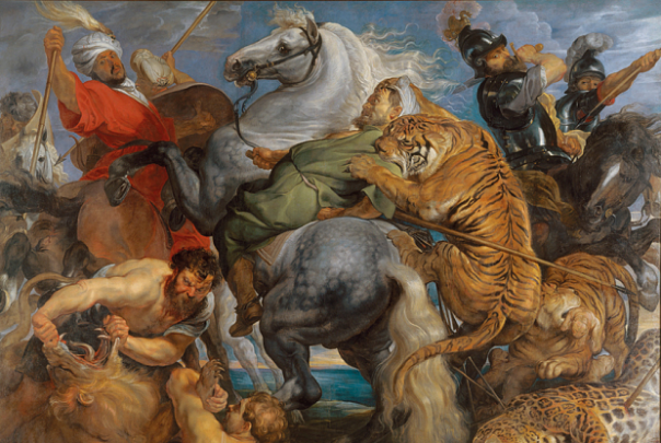 Tiger, Lion and Leopard Hunt (detail), 1617