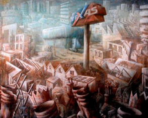 GRAHAM CROWLEY The Chain Store, 1987, 203 x 254 cm, Middlesbrough Council/MIMA
