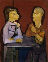 The Students. Robert Colquhoun, 1947. Oil on canvas, 77.5 x 61 cm. British Council Collection