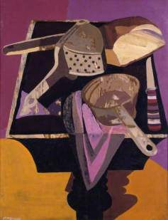 Table with Objects No.1, by Robert MacBryde, 1946. Oil on panel, 58 x 46 cm. British Council Collection