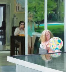 Caroline Walker: Consulting the Oracle, 2013. Oil on linen, 193 x 175 cm.