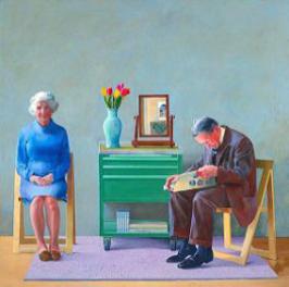 DAVID HOCKNEY My Parents, 1977, 194 x 194.1 cm, Tate