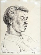 Robert Colquhoun: Portrait of Robert MacBryde, 1939 | Scottish National Portrait Gallery, Edinburgh