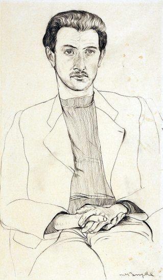 Robert MacBryde: Portrait of Robert Colquhoun, 1939 | Scottish National Portrait Gallery, Edinburgh