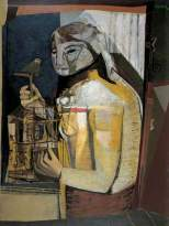 Woman with a Birdcage, by Robert Colquhoun, c.1946. Oil on canvas, 101.5 x 74 cm. Bradford Museums and Galleries