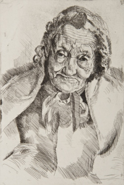 Granny Ashdown, 1922. Etching on paper