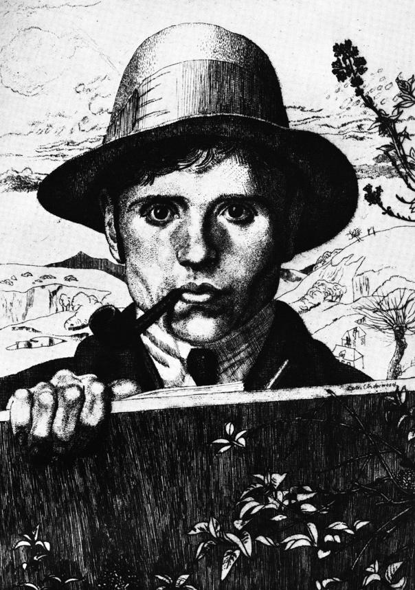 Leon Underwood, Self Portrait, 1921