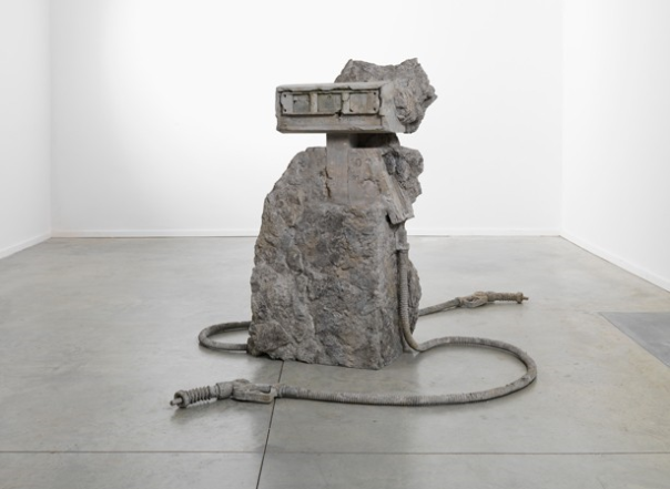 Allora & Calzadilla, 2 hose petrified Petrol Pump, 2012. Photo courtesy Allora & Calzadilla and Lisson Gallery