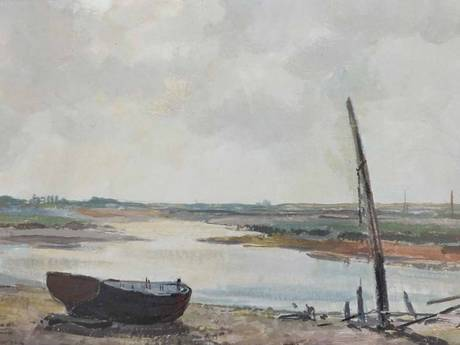 Morton's oil painting 'Estuary View' (Island Fine Arts)