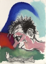 Out of Depression, 1989 Acrylic and charcoal on paper 57 x 50 cm