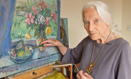 """Moira Beaty signed the Official Secrets Act in 1942 and did not talk about her work at Bletchley Park until the late 1980s. She went on to become a highly regarded artist and teacher"""