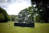 Two Piece Reclining Figure: Points. 1969-70, Bronze. Sited at Yorkshire Sculpture Park. Photo Jonty Wilde 2011