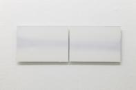 A K Dolven, A4 double horizon, 2014. Oil on aluminium. Photo: Stuart Whipps