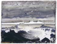 Peder Balke, Stormy Sea (c. 1870). Oil on wood. Copyright The National Museum of Art, Architecture and Design, Oslo, Norway.