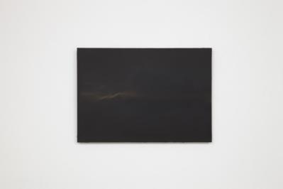 A K Dolven, A4 black I, 2014. Oil on canvas. Photo: Stuart Whipps