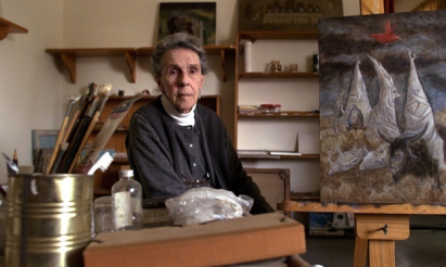 Leonora Carrington in her Mexico City house in 2000. Photograph: Daniel Aguilar/Reuters