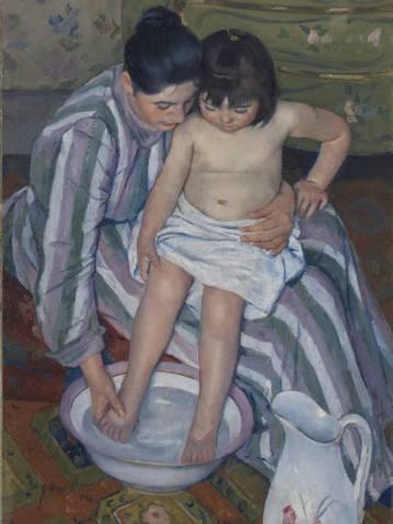 Mary Cassatt: The Child's Bath, 1893. Art Institute of Chicago