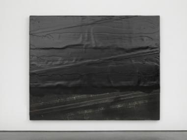 Diagonal bitumen, 2014. Wood, rubber and tar. Photo: Ben Westoby