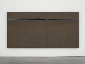 Clearing, 2014. Wood, rubber and tar. Photo: Ben Westoby