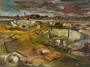 Germany: The Siegfried Line between Heerlen and Aachen, 1944. Oil on panel, 56.5 x 76.5 cm. IWM (Imperial War Museums)