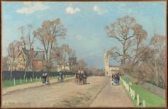 Camille Pissarro The Avenue, Sydenham, 1871. © The National Gallery, London