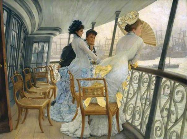 James Tissot: The Gallery of HMS Calcutta (Portsmouth), c.1876. Oil on canvas, 68.6 x 91.8 cm. Tate