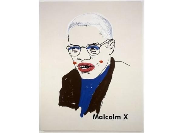Glenn Ligon, Malcolm X #1 (small version #2), 2003. Courtesy the Rodney M. Miller Collection
