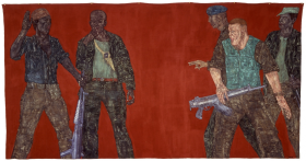 Mercenaries IV, 1980 at the Serpentine gallery, courtesy Ulrich and Harriet Meyer Collection. All images: c/o the Nancy Spero and Leon Golub Foundation for the Arts