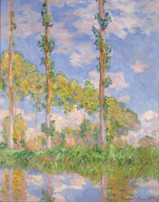 Poplars in the Sun, 1891 by Claude Monet. Photograph: Alamy