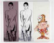 Julia Wachtel, Untitled (Body Builder), 1989. Courtesy the artist, Zabludowicz Collection, and Vilma Gold, London