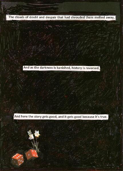 It's true A4 paper collage with black pen 29.7 x 21 cm