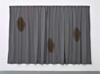 Koji Enokura: Print (STORY & MEMORY No.1), 1993. Silkscreen on cloth, 217 x 317 cm (85 3/8 x 124 3/4 in.)