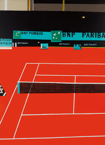 Jonas Wood: French Open I, 2011