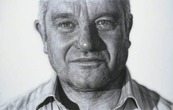 Paul Nurse ('Paul'), 2008. Acrylic on linen, 171 x 271 cm. National Portrait Gallery, London
