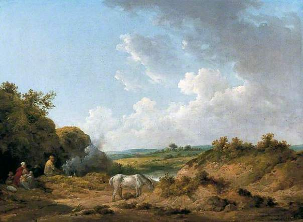 A Gypsy Encampment, 1788–1798. Oil on canvas, 45.7 x 63.5 cm. York Museums Trust