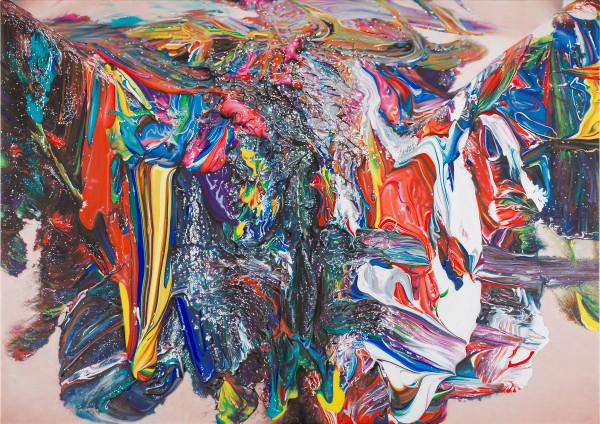 Origin I, 2015. Acrylic on canvas, 125 x 176 cm. Photo: Francis Ware