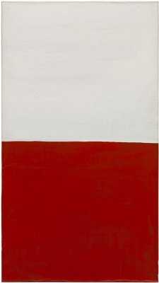 Untitled, 1987. Acrylic on lead laid down on panel, 35 7/16 x 19 11/16 x 1 1/4 in. (90 x 50 x 3.2 cm)