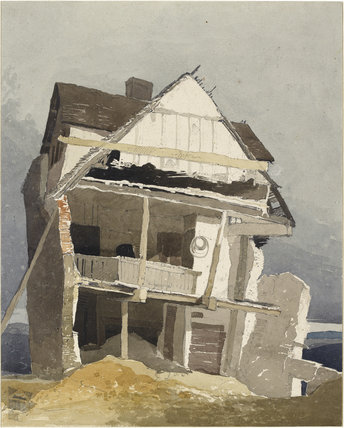 John Sell Cotman: A Ruined House, watercolour over graphite, Ashmolean