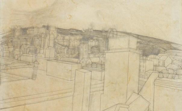 Wilhelmina Barns-Graham, St Ives, pencil on paper